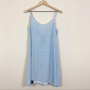 Capulet Alana Blue Floral Mini Slip Dress Size M